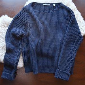 Vince dark navy heavy knit sweater